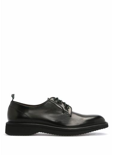 Green George %100 Deri Bağcıklı Klasik Ayakkabı Siyah